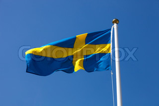 Sweden flag on blue sky