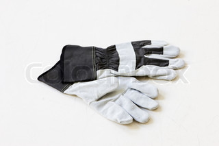 Garden gloves in white background