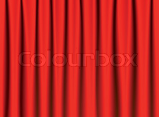 Brightly lit curtains
