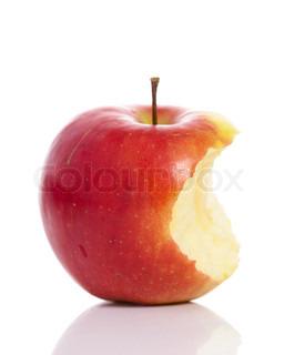 Billede af 'æbler, bid, rødt'