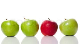 Billede af 'æble, indendørs, hvid'