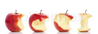 Billede af 'æbler, sunde, bid'