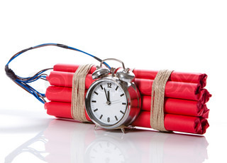 Image of 'dynamite, clock, bomb'