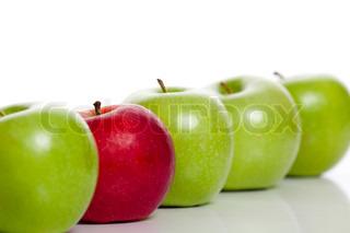 Billede af 'ulige en ud, sunde, æbler'