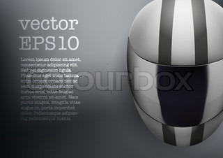 Background of white motorcycle helmet with strip