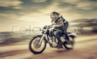 Riding on motorcycle