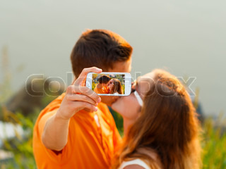 Selfie - Kissing Couple
