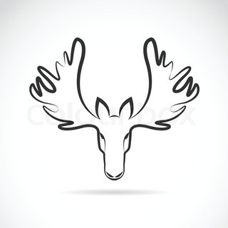 Silhouette Of Moose Vector Colourbox