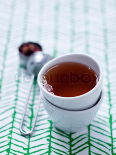 A cup of hot tea