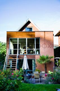 Billede af 'terrasse, boligbebyggelser, haven'
