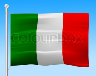 Italy Flag Means Italian Nationality And European