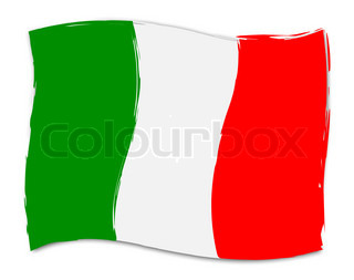 Italian Flag Shows Italy Nationality And Nation