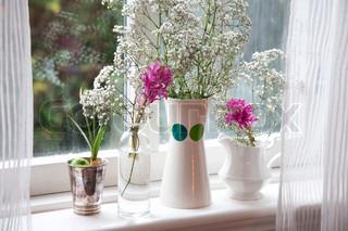 Billede af 'blomstre, vaser, enkel'