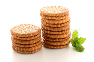 Sandwich biscuits with vanilla filling