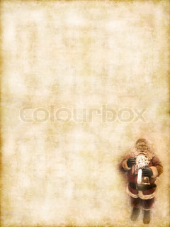 Retro greeting card with copyspace for text on grunge background.