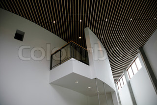 Detail from modern Danish museum interior.