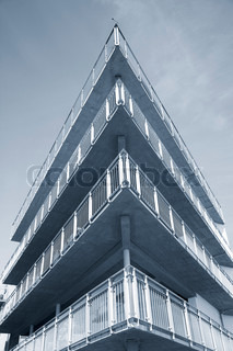 Modern waterfront apartment building Denmark - Duotone.