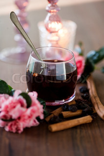 Glogg - a traditional danish Christmas beverage served hot