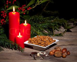 Billede af 'julemad, dessert, nødder'