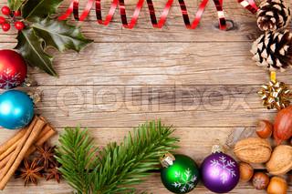 Billede af 'juleaften, juledekorationer, gran'