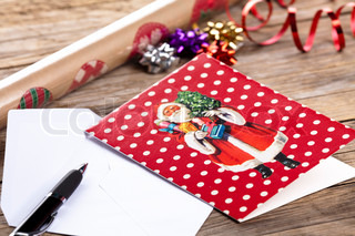 Image of 'card, christmas, pen'