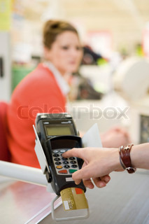 Image of 'cashier, cashier's counter, food store'