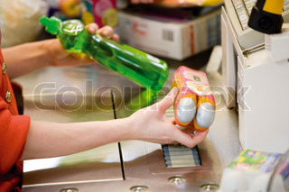 Image of 'cashier, cleaning agent, plastic'