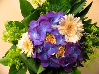 Billede af 'bryllupsdag, buket, hortensia'