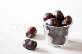 Dates in a glass