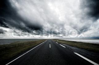 Billede af 'asfalt, veje, cloudscape'
