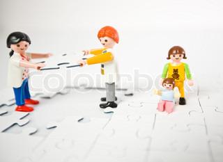 Billede af 'skilsmisse, playmobil, child'