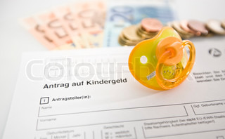 Application for child benefit document in german
