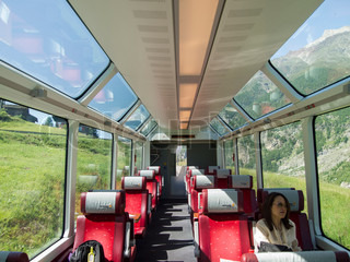 switzerland jun 28 interior of glacier express train on june 28 2011 in switzerland this. Black Bedroom Furniture Sets. Home Design Ideas