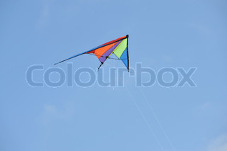 Image of 'kite, colourful, flying'