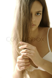 Image of 'hair, beautiful, glances'