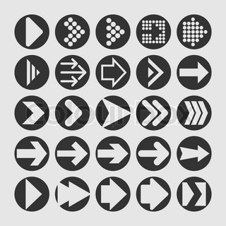 different style arrows icon set