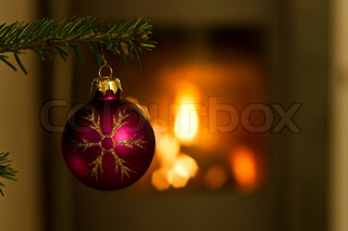 Billede af 'juledekorationer, juletræ, pejs'