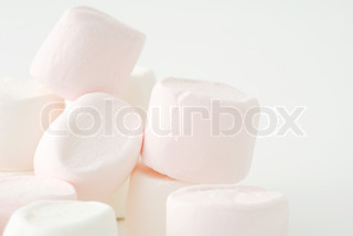 Image of 'marshmallow, marshmallows, piles'