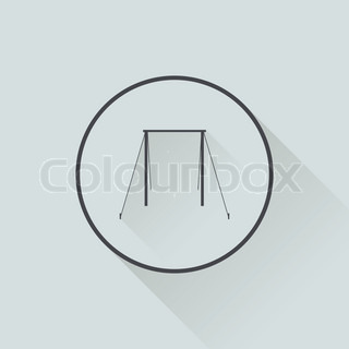 Horizontal bar icon in flat design wihh long shadow
