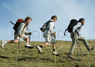 Image of 'nordic walking, youth, walking'