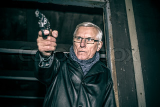 Dangerous senior with a gun