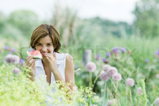 Image of 'garden, summer, woman'
