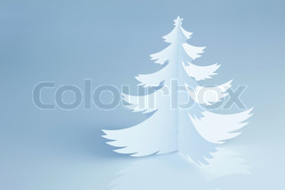 Beautiful white handmade Christmas tree - horizontal