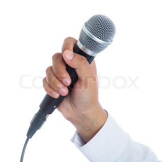 how to hold a microphone when singing