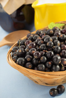 black currants in bowl