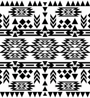 seamless black and white navajo pattern vector