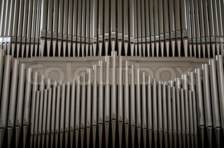Organ pipes in Danish church.