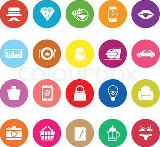 Department Store Item Category Icons Stock Vector Colourbox
