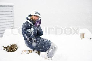 Billede af 'vinter tøj, varme drikke, danmark'