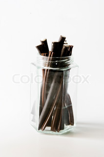 Licorice on glass